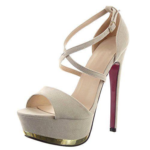 Sopily - Scarpe da Moda scarpe decollete sandali Stiletto Zeppe alla caviglia donna lucide Tacco Stiletto tacco alto 15 CM - Beige in OFFERTA su www.kellieshop.com Scarpe, borse, accessori, intimo, gioielli e molto altro.. scopri migliaia di articoli firmati con prezzi da 15,00 a 299,00 euro! #kellieshop Seguici su Facebook > https://www.facebook.com/pages/Kellie-Shop/332713936876989