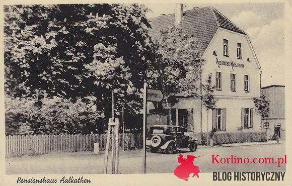 Nieistniejąca Restauracja Alkathen przy Głównicy pocztówka z obiegu lata 30-te.