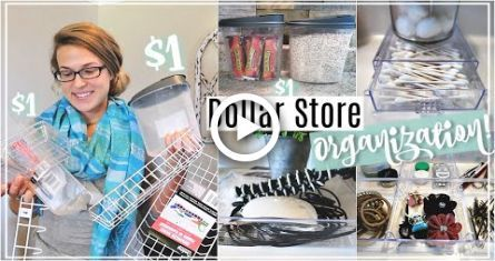 ORGANIZATIONAL IDEAS FOR THE DOLLAR STORE