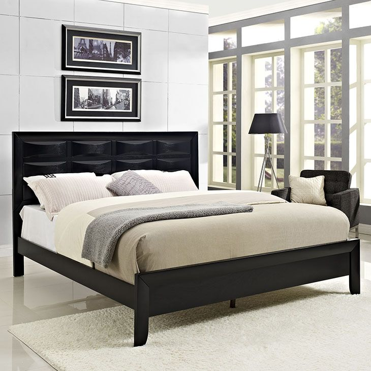 HARRISON QUEEN BED IN BLACK A Luxurious And Distinctive Addition To Any Bedroom  Suite, The