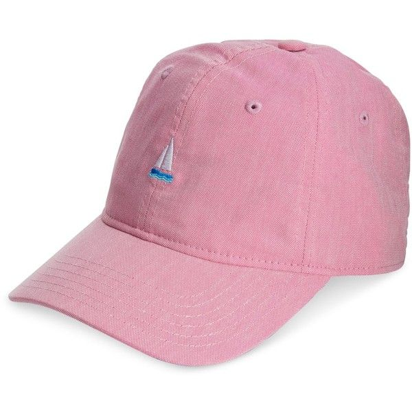 Block Hats Embroidered Cotton Dad Hat ($29) ❤ liked on Polyvore featuring accessories, hats, pink, pink cap, cap hats, block caps, embroidery caps and embroidered caps