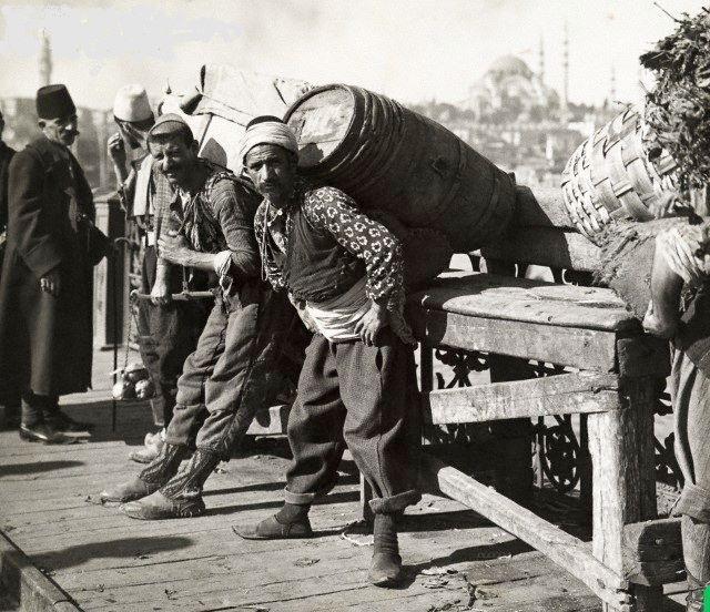 Galata bridge - köprüsü 1910.Istanbul