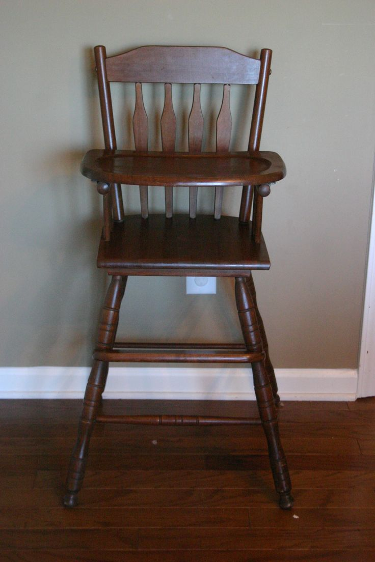 Painted wooden high chairs - Old Wooden High Chair Covers