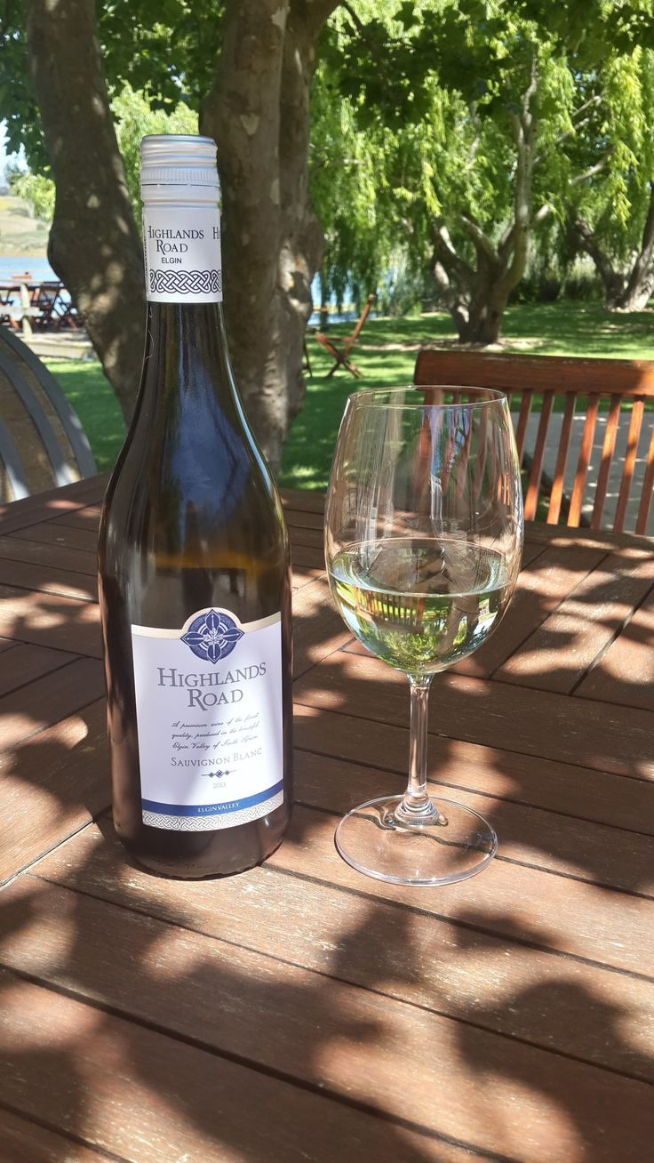 enjoy a glass of Sauvignon Blanc 2013 under the trees at Highlands Road Estate #bliss