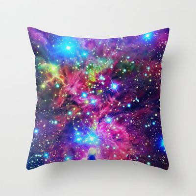 Astral Nebula Throw Pillow by Starstuff - $20.00      these would be cool throw pillows on a black couch..