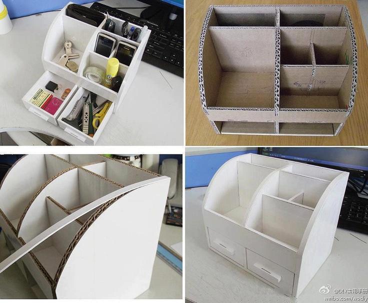 Estante hecho de carton muebles de carton reciclado for Estantes de carton