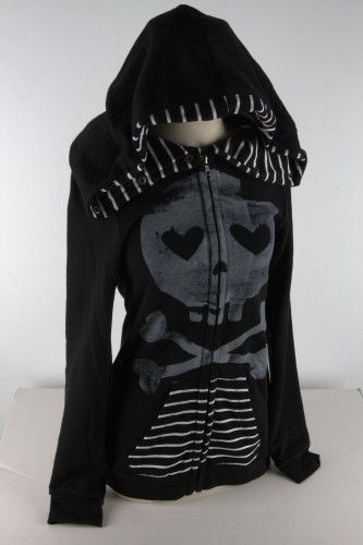 Abbey Dawn by Avril Lavigne heartcore Hoodie Black Zip s Small | eBay