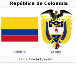 Resultado de imagen para mapa, escudo nacional y bandera de  Colombia