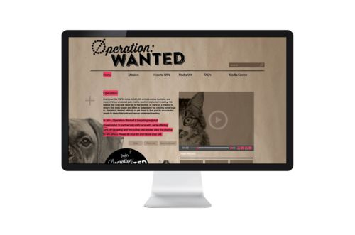 Operation Wanted. Branding and campaign idea. #humperdink