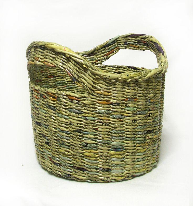 Basket Weaving Toronto : Ideas about newspaper basket on paper