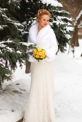 Outdoor Winter Wedding Dress