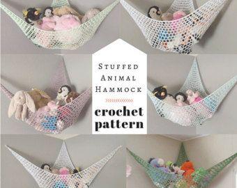 PATTERN Crochet Stuffed Animal Hammock by TogetherInLove