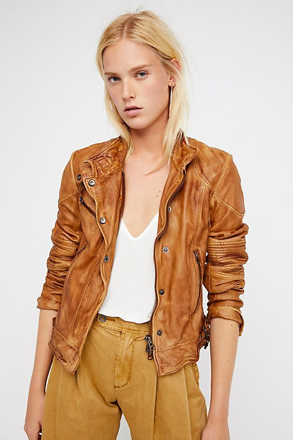Fitted And Rugged Leather Jacket Coloured Leather Jacket Rugged Leather Leather Jacket