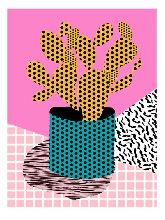 Ace - 80's throwback retro vintage hipster texture vinyl record 1980's 90's cool memphis bright fun Art Print