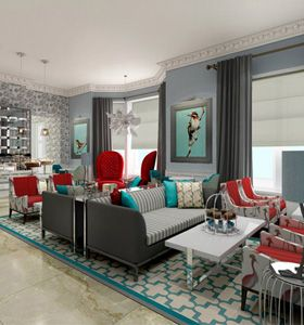 The Ampersand Hotel in London.....I would like to stay here on my next trip to London!