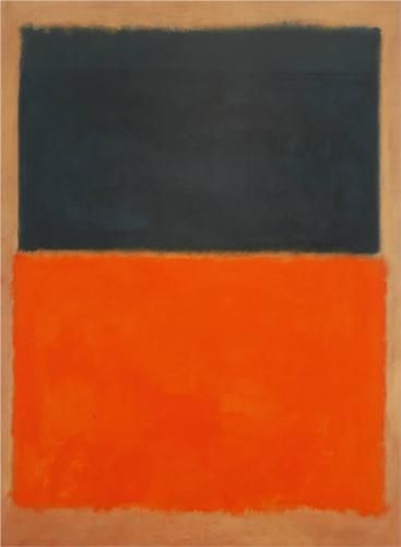 Green and Tangerine on Red - Mark Rothko