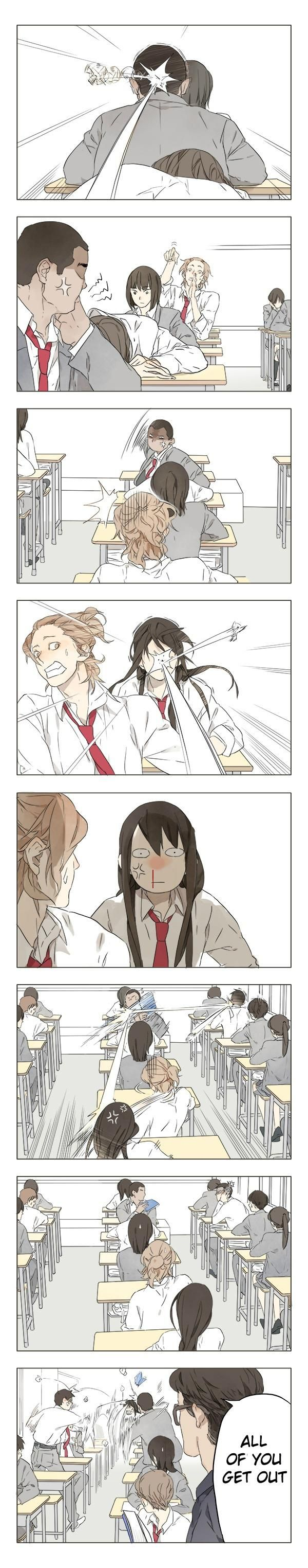 Tamen Di Gushi Chapter 1 Page 6 and then they started playing sea weed outside the class