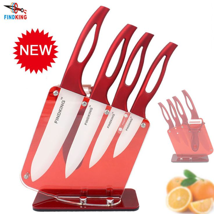 """Cheap ceramic knife china, Buy Quality ceramic kitchen knife directly from China ceramic knife block Suppliers: FINDKING Beauty Gifts Zirconia red handle Ceramic Knife with holder kitchen Set 3"""" 4"""" 5"""" 6"""" inch+ Peeler+Holder kitchen knife"""