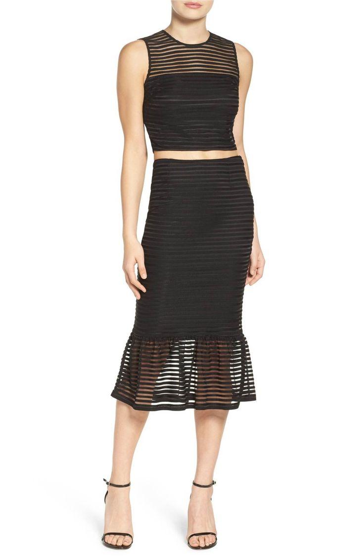 Main Image - Ali & Jay Shadow Stripe Two-Piece Dress
