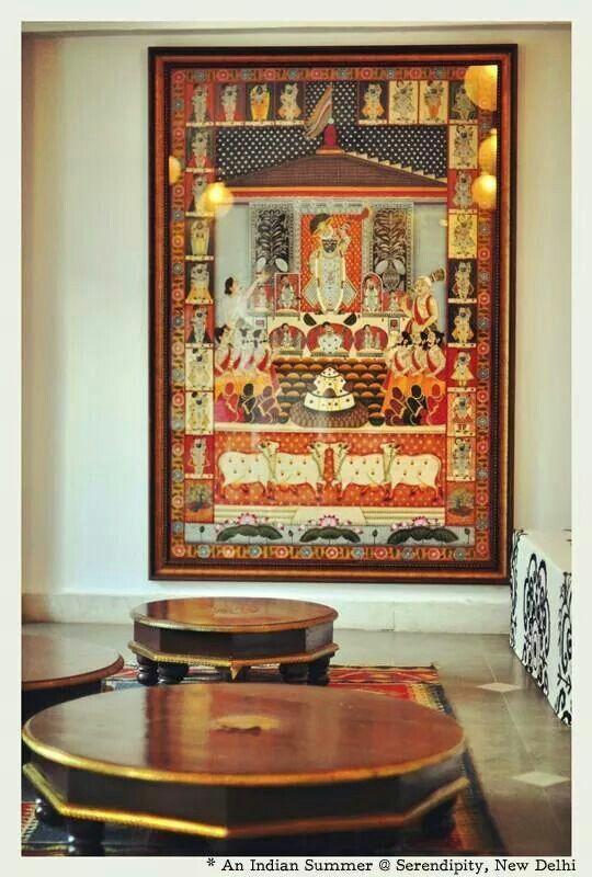 Framed Tanjavur painting