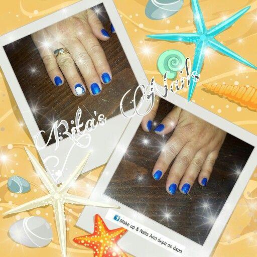 #ημιμόνιμο #one_stroke #blue_colour