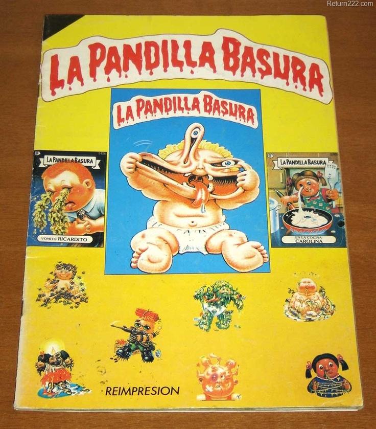 Álbum de cromos de la Pandilla Basura