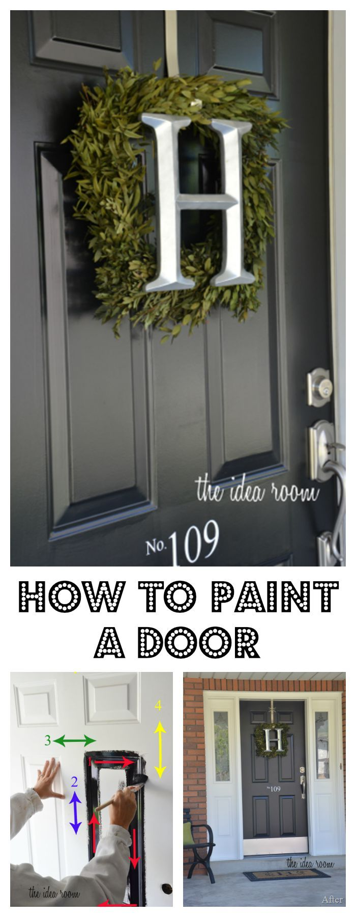 How to Paint a DoorBest 25  Painted exterior doors ideas on Pinterest   Painting  . Painting New Steel Entry Doors. Home Design Ideas