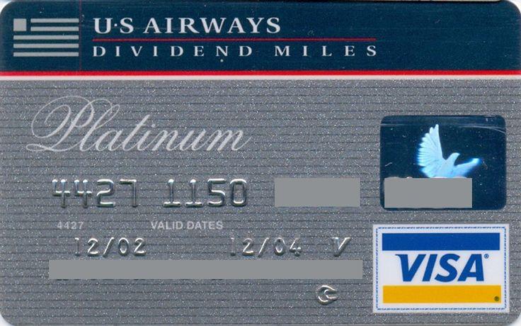 US Airways VISA Platinum (Bank of America, United States of America) Col:US-VI-0385