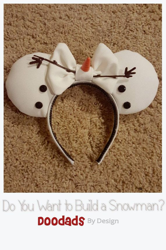 Olaf Inspired Mouse Ears by DoodadsByDesign on Etsy