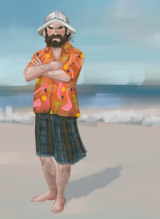 """aka girlfrog.tumblr @thenewredplaid -- he's not the kind of dude that takes beach holiday selfies. """"-D happy holiday! cu for the last ep! """"-D"""