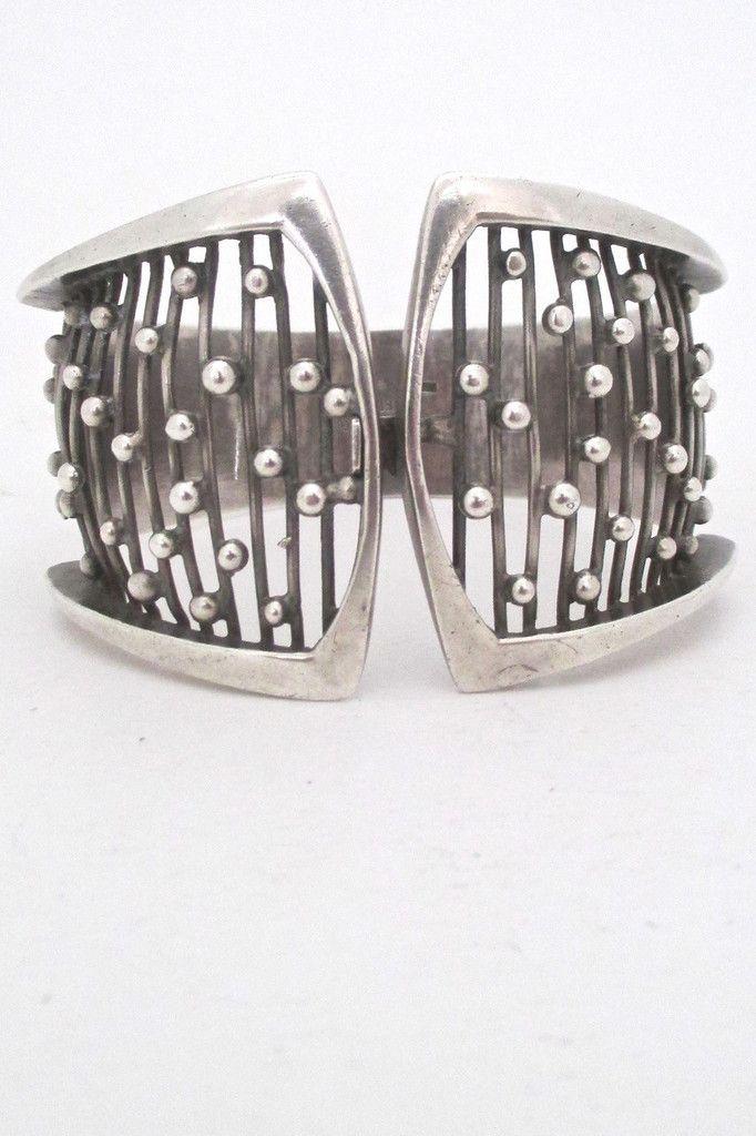 Sweden - vintage silver wide openwork bracelet #bracelet #Sweden