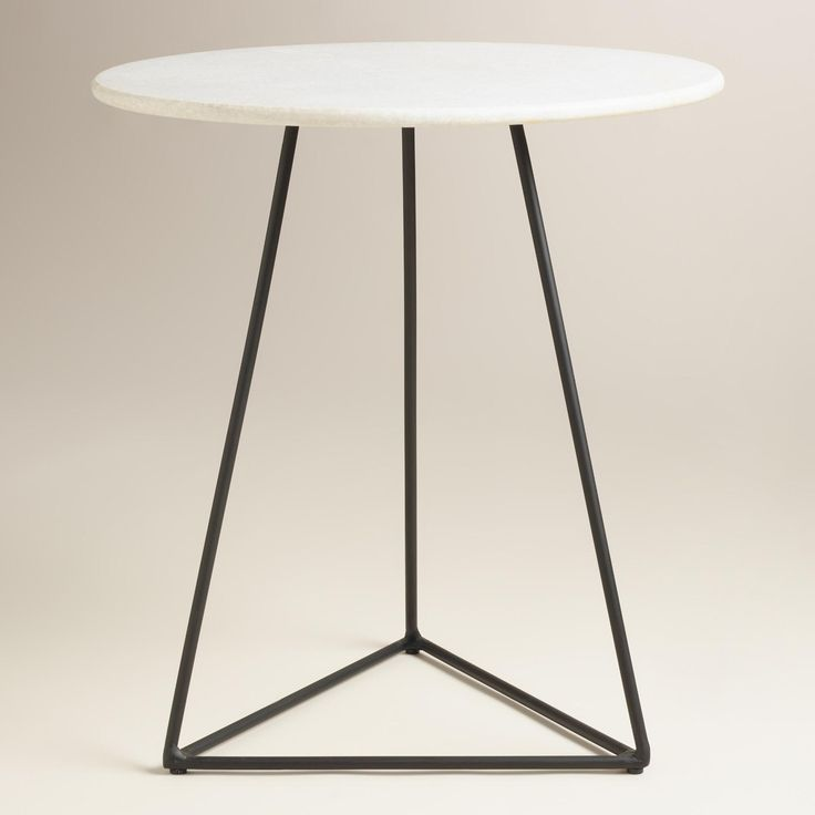 Awesome Handcrafted By Skilled Indian Artisans, Our Versatile Side Table Features A  Natural Marble Top In