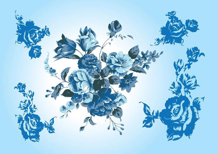 Vintage Flower Wallpaper image information