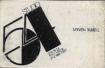 Studio 54 business card  @itsnicethat  via @Graphicsandme