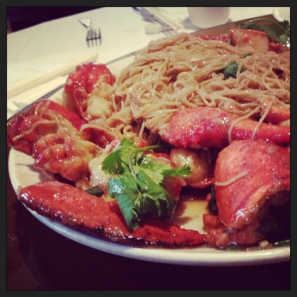 Lobster Noodles at Mandarin Kitchen, Bayswater