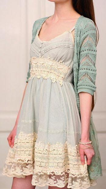 KoloDIY: Идея: отделка платья кружевом