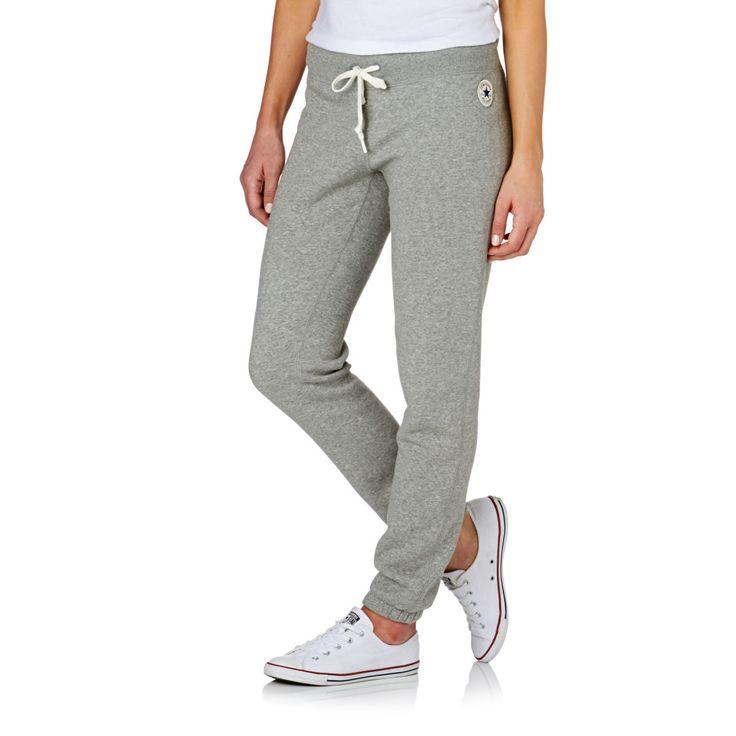 Converse Tracksuit Bottoms - Converse Core Slim Pant Tracksuit Bottoms - Vintage Grey Heather