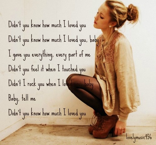 Kellie Pickler - Didn't You Know How Much I Loved You ...