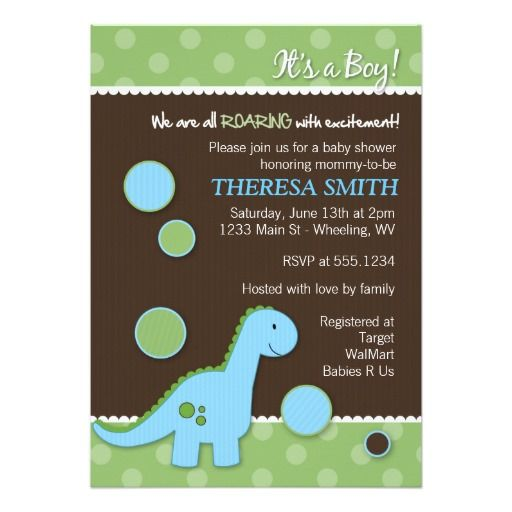 321 best images about dinosaur baby shower invitations on, Baby shower invitations