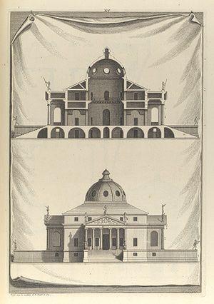 Andrea Palladio. Villa Rotonda. Elevation and section.