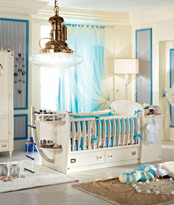 Gitterbett in Schiff-Form - coole Einrichtung des Babyzimmers