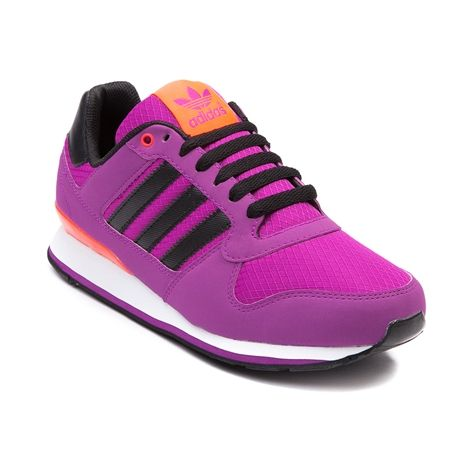 Womens adidas ZXZ WLB 2.0 Athletic Shoe in Vivid Pink Black.Sporty-cute sneaker classic with that springtime color pop! The adidas ZXZ WLB 2.0 rocks a synthetic upper complete with a color accented midsole and tongue logo, lightweight EVA midsole cushioning, padded collar and tongue, and gripping rubber traction outsole. Available only at Journeys and SHI!