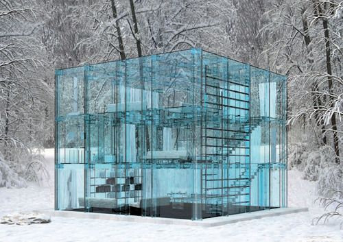 Glass House: Glasshous, Dreams Houses, Architects, Ice Cubes, Architecture, Stones, Glass Houses, Houses Design, Glasses Houses