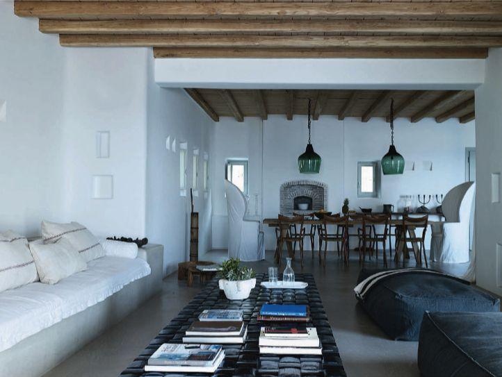 buildin sofa, greece, summer residence
