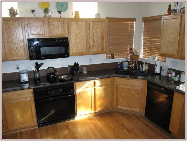 Extremely Cherry Cabinets Kitchen