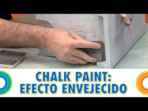 Trucos para pintar un marco con pintura chalky efecto decapado - YouTube