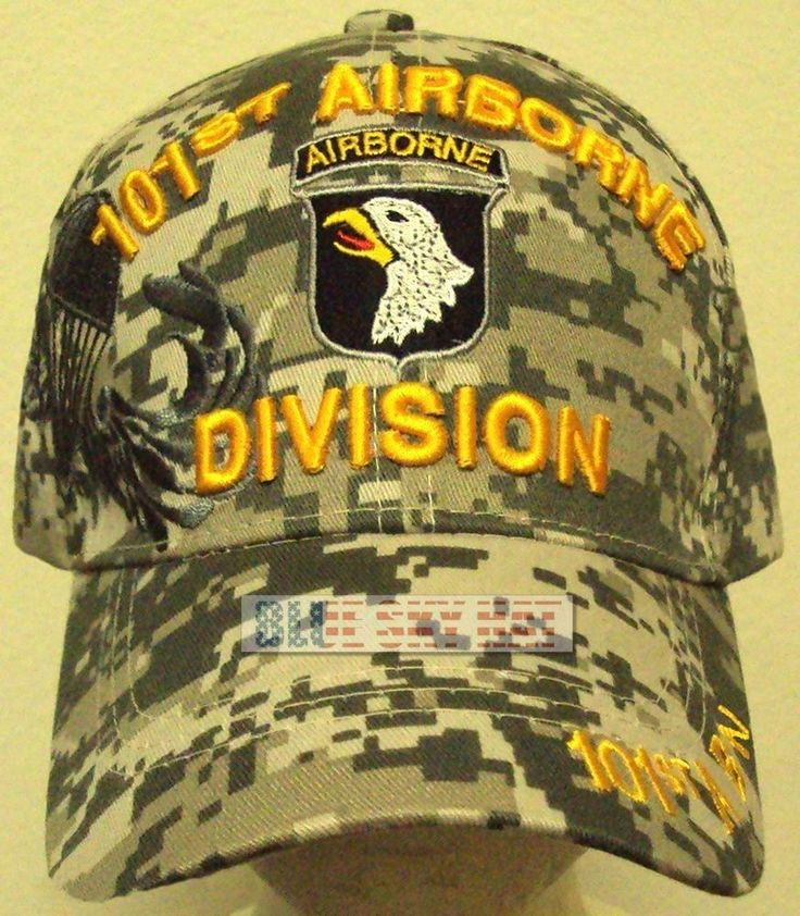 CAMO U.S. ARMY SCREAMING EAGLE 101ST AIRBORNE DIV AIR ASSAULT PARACHUTE CAP HAT #HIGHPREMIUMHATS #BaseballCap