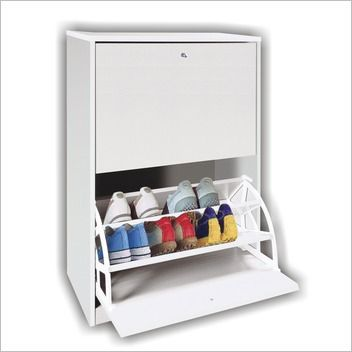 Delightful MarketMakers Accessories 2 Drawer Shoe Cabinet In White Part 11