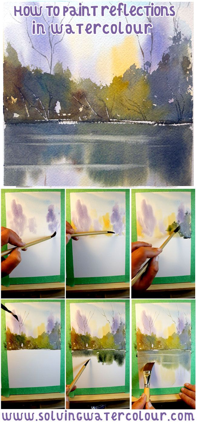 How To Paint Reflections In Watercolour Step By Step