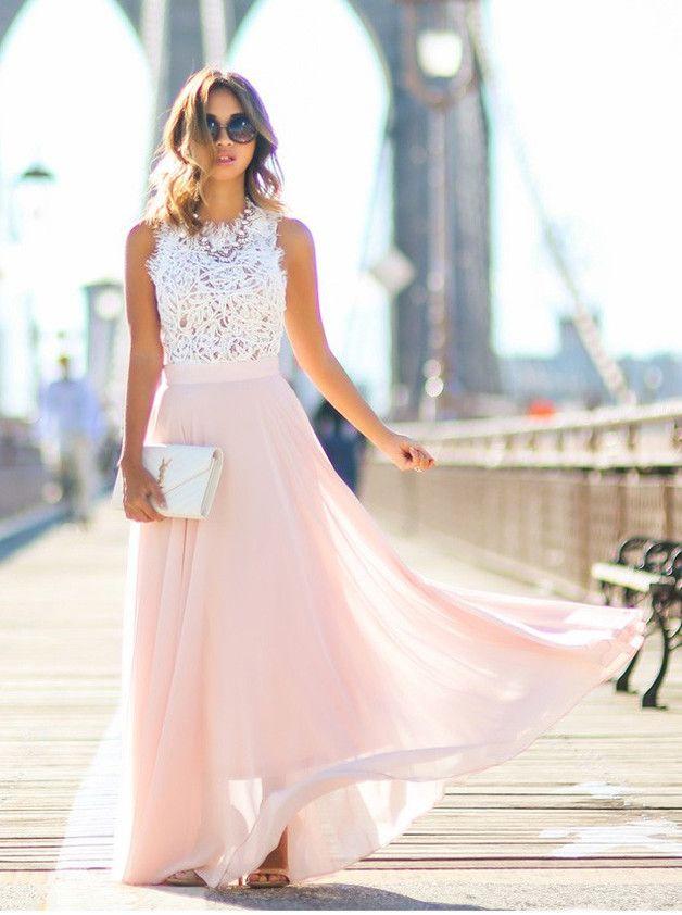 die besten 25 abendkleider lang rosa ideen auf pinterest